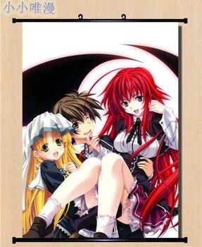Anime High School DxD Himejima Akeno & Toujou Koneko & Irina Shidou & Rias Gremory Home Decor Wall Scroll Poster Pictures 2