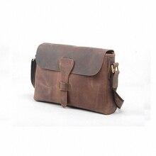 Crazy horse leather men genuine leather handbag laptop men's briefcase tote men messenger bags shoulder vintage mens bag LI-907