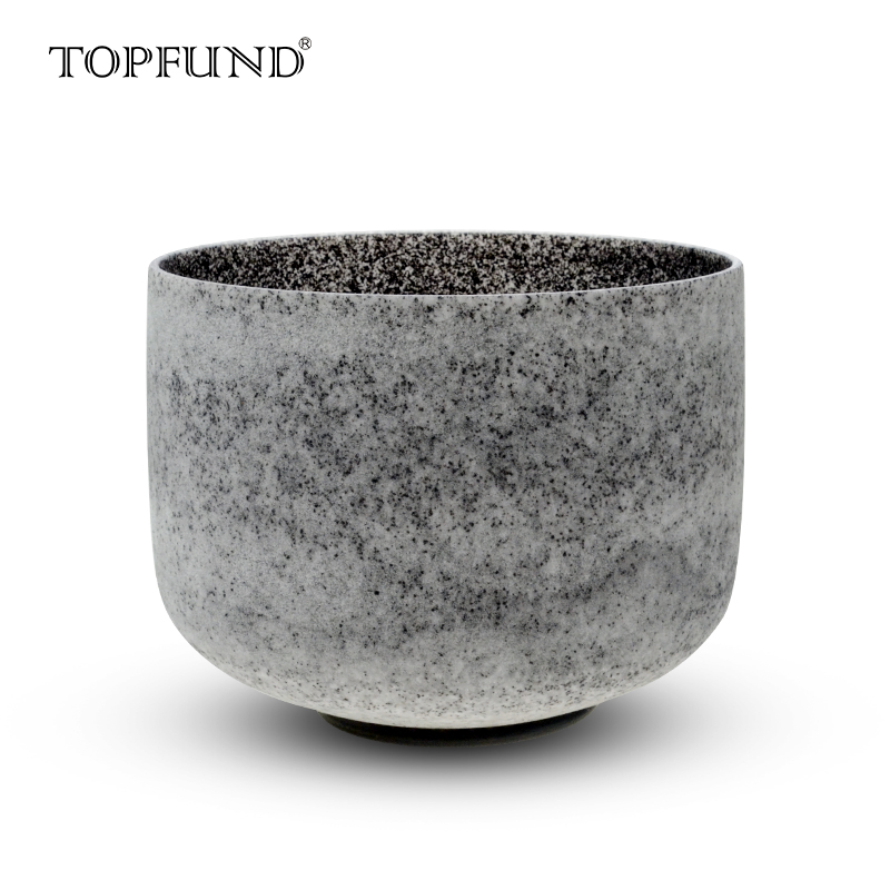 Topfund Pink Gemstone Fused Clear C Root Clear Crystal Singing Bowl 7 With Free Mallet And O-ring Sports & Entertainment