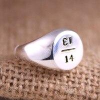 925 esterlina anel de prata gravado com o cartão 1314 anel anel para toda a vida da fêmea índice anel de dedo de prata jóias