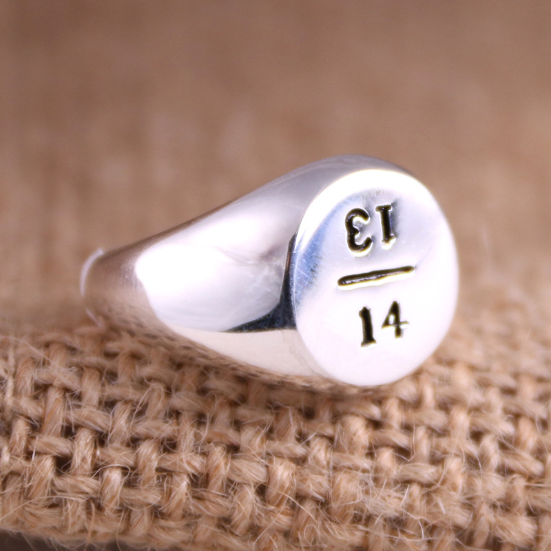 925 sterling silver ring engraved with the card 1314 ring ring for the entire life of female index finger silver jewelry the realm of clans anime ling yu qinlie 925 sterling silver ring comics cartoon