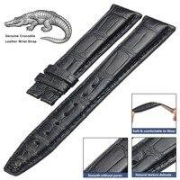 HQ Genuine Alligator Crocodile Leather Watch Strap Band Black Custom Made
