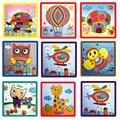 Creative Baby Toy Kindergarten Rope Paste Painting Cartoon Animal DIY Handmade Kids Crafts Toys
