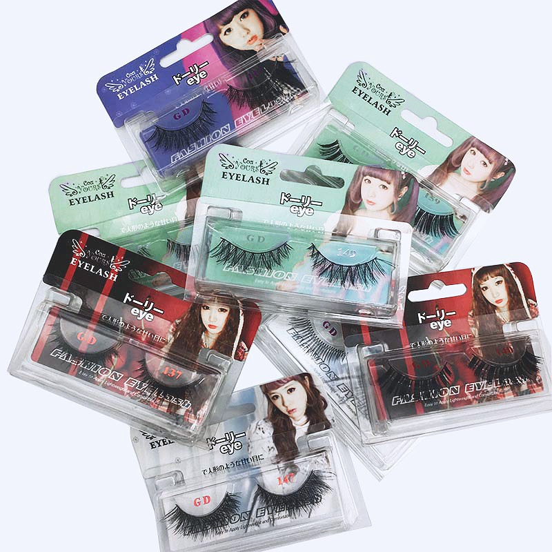 DAMMAN Japan hot sell false eyelashes CUCI GIRS natural nude make-up models  lashes hand-made fake