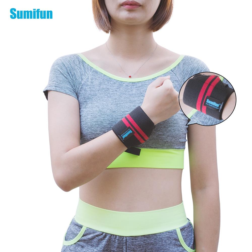 Wristband Weight Lifting Wrist Support Brace Wraps Bandage Elastic Stretchy Band Wrist Thumb Safety Hand Bands Z78801