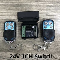 433Mhz Universal Wireless Remote Control Switch DC 24V 1CH Relay Receiver Module And 2pcs Transmitter 433