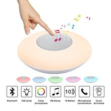 SHAVA Bluetooth Wireless Speaker Night Light LED RGB Colorful Portable Music Loudspeakers Hand-free call For Phone PC with Mic