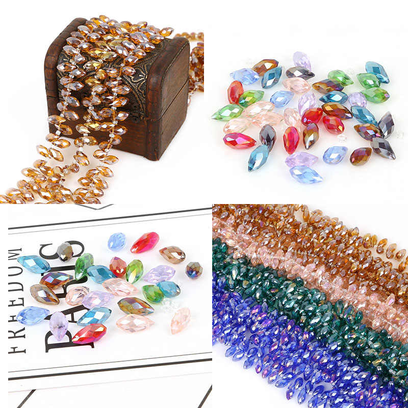 Fashion 50pcs/lot Colorful Glass Beads Charms Loose Round Beads Jewelry Beads for DIY Jewelry Making Necklace Bracelet