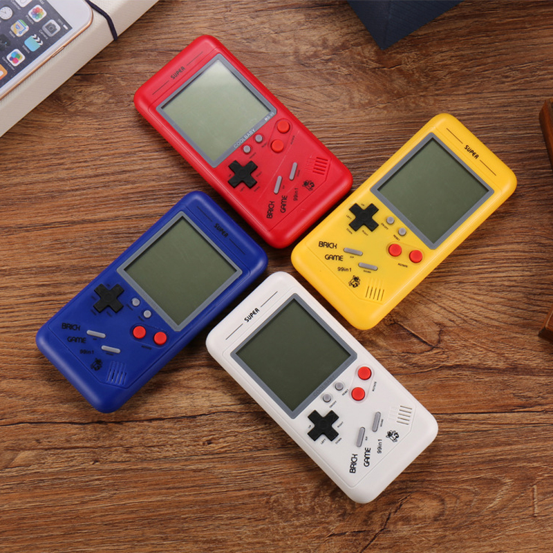Retro Classic Childhood Tetris Handheld Game Players LCD Electronic Games Toys Game Console Riddle Educational Toys Best Gift