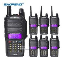 6pcs Walkie Talkie Baofeng UV-5S Dual Band Radio IP67 Waterproof Outdoor VHF UHF 136-174/400-520mHZ 2800mAh Li-ion Battery