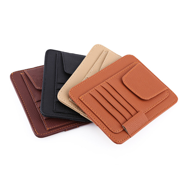 Auto Car Accessories Visor Card Storage Sun Visor Organizer Tool Pouch Bag Card Storage Glasses Holder Clip Visor Storage holder