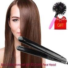 Best price Ceramic Board Steam Curling Irons Hair Splint Spray Splint For Salon 360 Rotatable 40W Curling Straightener Hair Splint Spray
