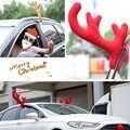 عيد الميلاد مضحك سيارة ديكور لعبة الرنة الأذن الأنف القرن زي مجموعة رودولف قرون الحلي الديكور للمنزل