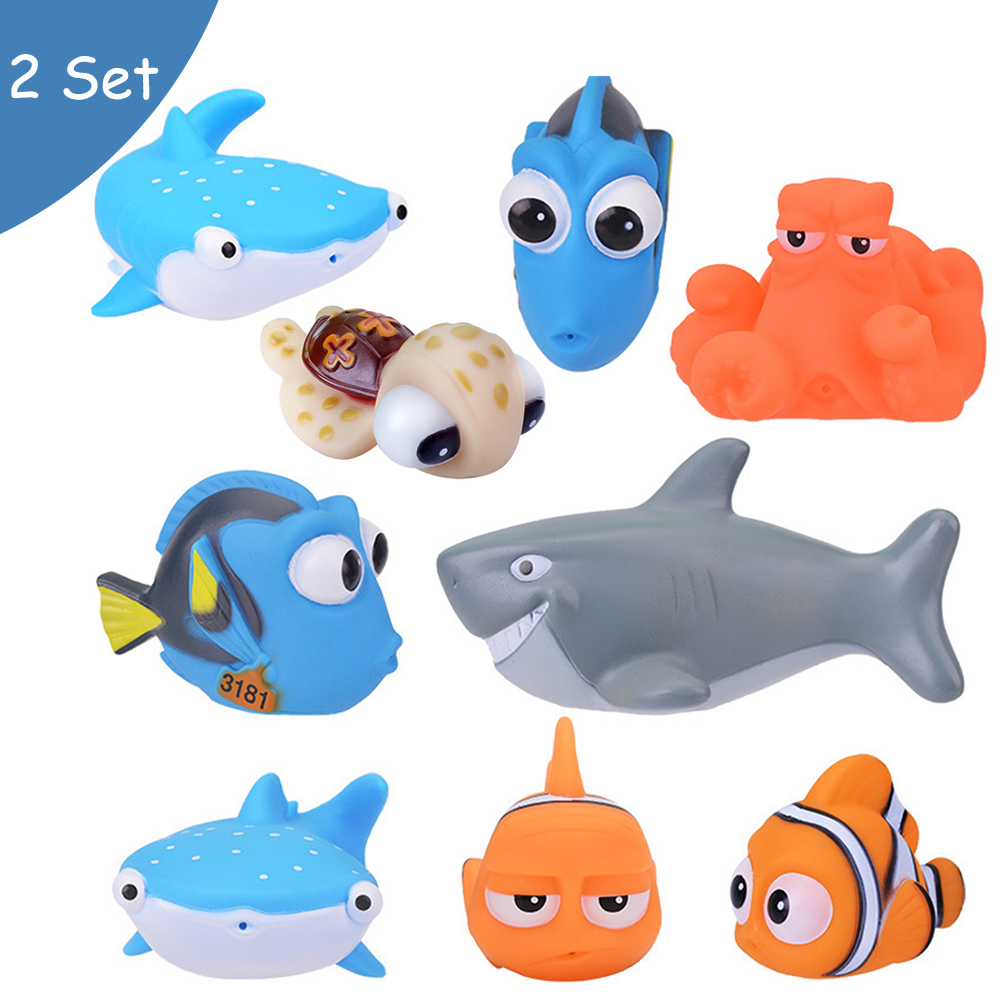 Baby Bath Toys Finding Nemo Dory Float Spray Water Squeeze Toys Soft Rubber Swimming Play Bath figure Toy Cartoon for Children children swimming bath toy electric shower spray starfish