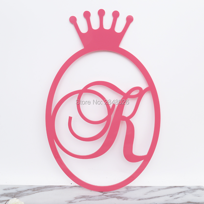 Personalized wall hanging Sign with Monogram and Last Name, acrylic ...