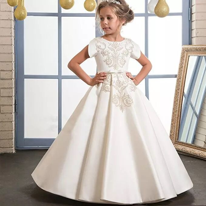 First Holy Communion   Dresses   Elegant   Flower     Girl     Dress   2019 High Fashion Ritzee   Girl   Pageant   Dresses   Vestido De Daminha New