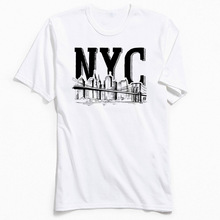 High Street T-shirt Men New York City Tshirt NYC Summer/Fall Short Sleeve T Shirt 100% Cotton Student Fitness Tops Tees Company