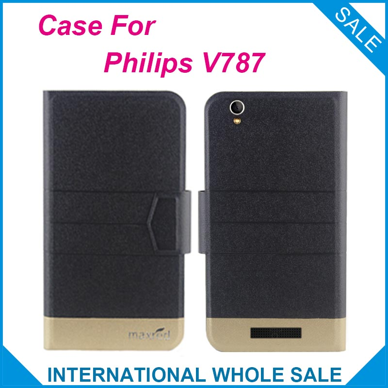 5 Colors Hot!For <font><b>Philips</b></font> <font><b>V787</b></font> Case New Fashion Business Magnetic clasp Ultrathin High quality Flip Leather Case For <font><b>Philips</b></font> <font><b>V787</b></font> image