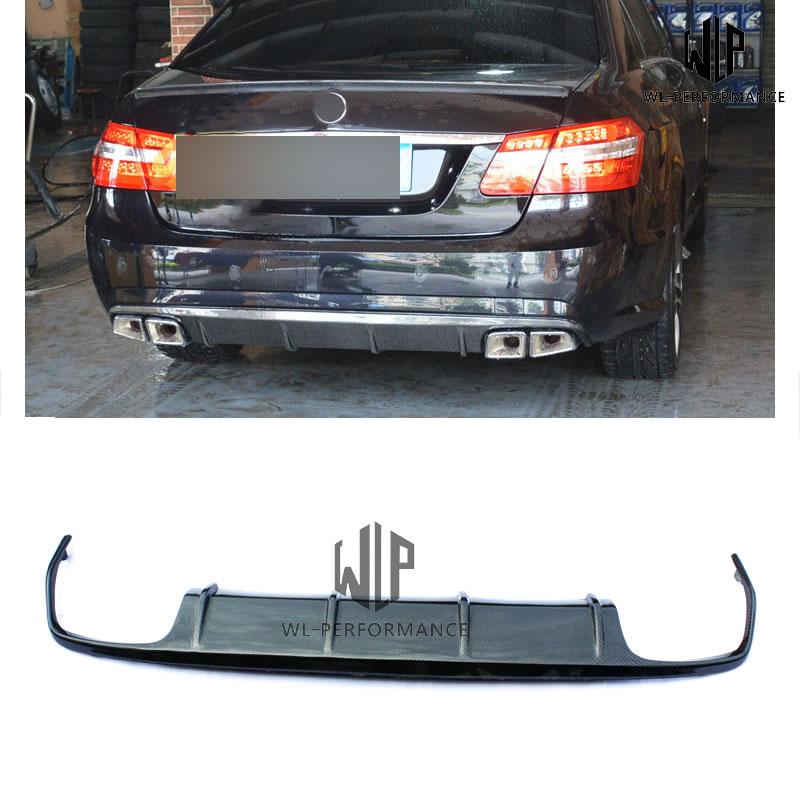 W212 Carben Fiber Rear Lip Diffuser Car Styling For Mercedes-Benz E Class AMG Car Body Kit 2010-UP