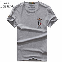 JI PU Lato Oddychać Światła Elastyczne Leisure męskie Krótkie Bawełniane T shirt, Vintage/Biały Czarny Luźny Marki mężczyzna's Sweter tshirt