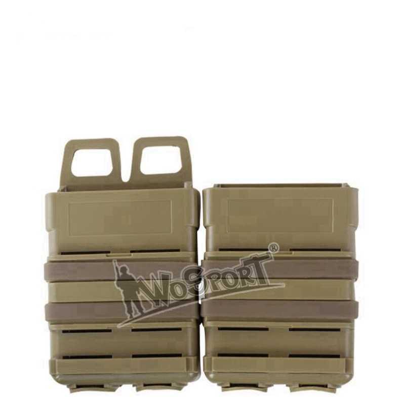 M4 Tático atacado 5.56 versão do MAG RÁPIDO puxar rápida combinação módulo Revista Bolsa Ao Ar Livre dois conjuntos Preto Verde Tan