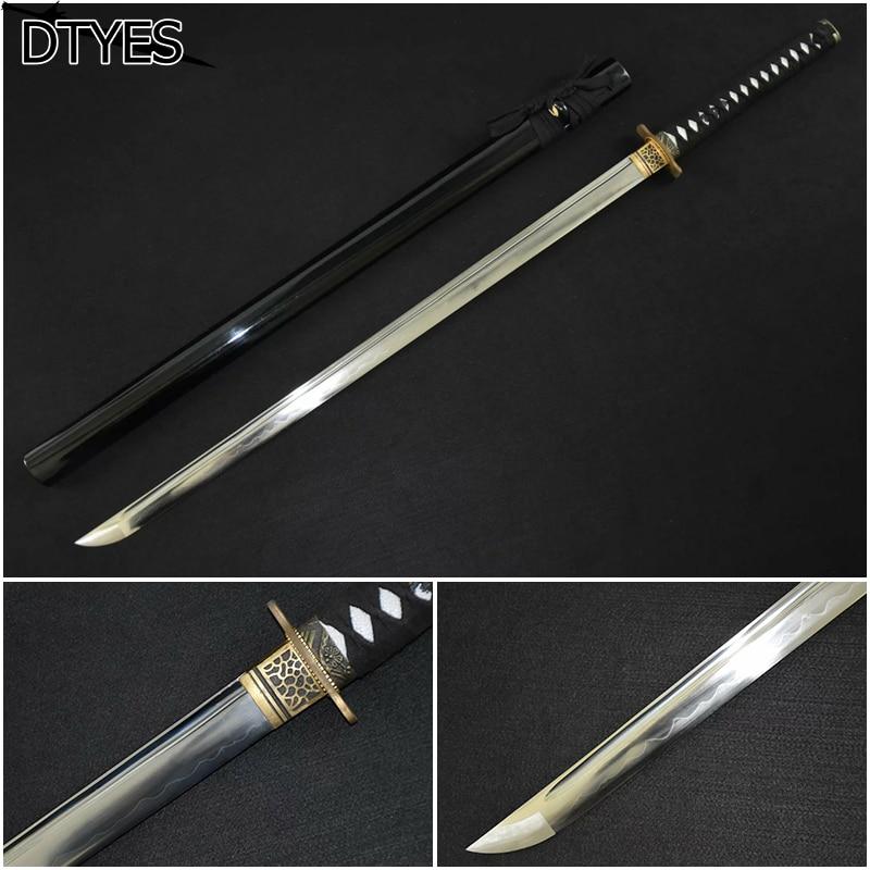 Īsts japāņu katanas zobens Katana 1095 Māls ar rūdītu samuraju - Mājas dekors