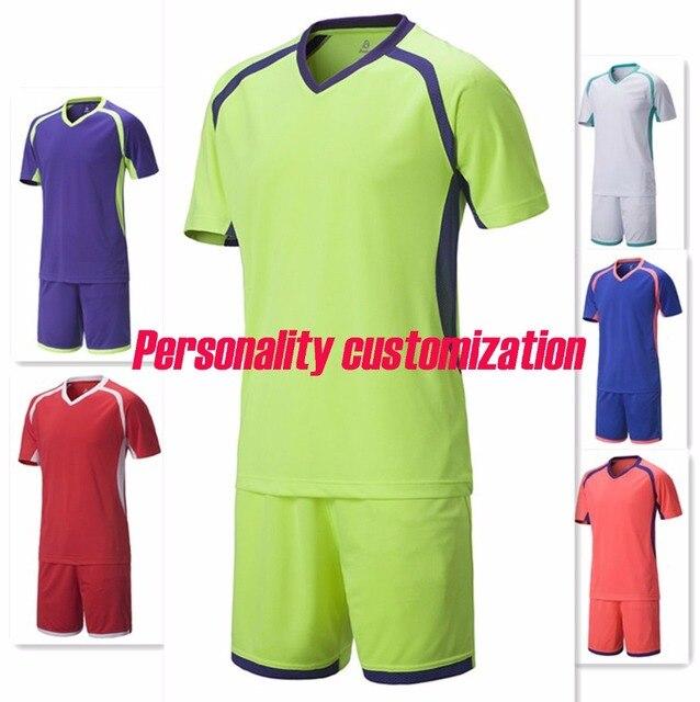 60303a779 kids blank soccer sets boys plain football jerseys children trainning kits  sports suits youth short sleeve