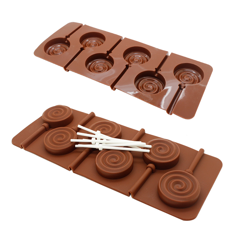New Lollipop Mould Bakeware Chocolate Molds Cooking Tools Silicon Ice Mould Tool Fondant Cake Decorating Tools