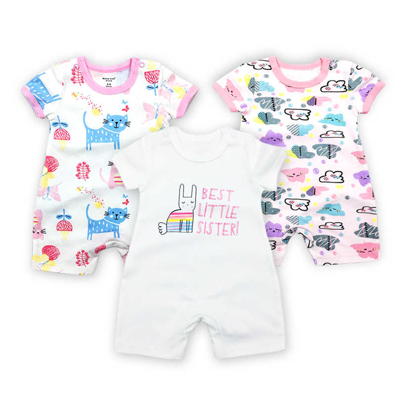 3 шт./лот Одежда для малышей Fantasia Детские боди, комбинезон для новорожденных комбинезон короткий рукав облегающий костюм летний комплект из хлопка