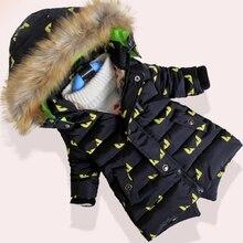 Дети Куртки Парки С Капюшоном Меховой Воротник Мальчики Зимнее Пальто С Длинным Рукавом Мальчиков Куртка Ветрозащитный Дети Зиму Куртка W49