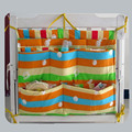 Cute baby bed hanging storage bag 40*50CM baby bed hanging bag  cotton newborn crib organizer toy diaper pocket for crib CP22