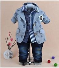 0-5Y ребенка мальчик господа одежда набор 3 шт. мальчики одежда дети джинсы костюм комплект детской одежды мальчиков платья мальчик одежда