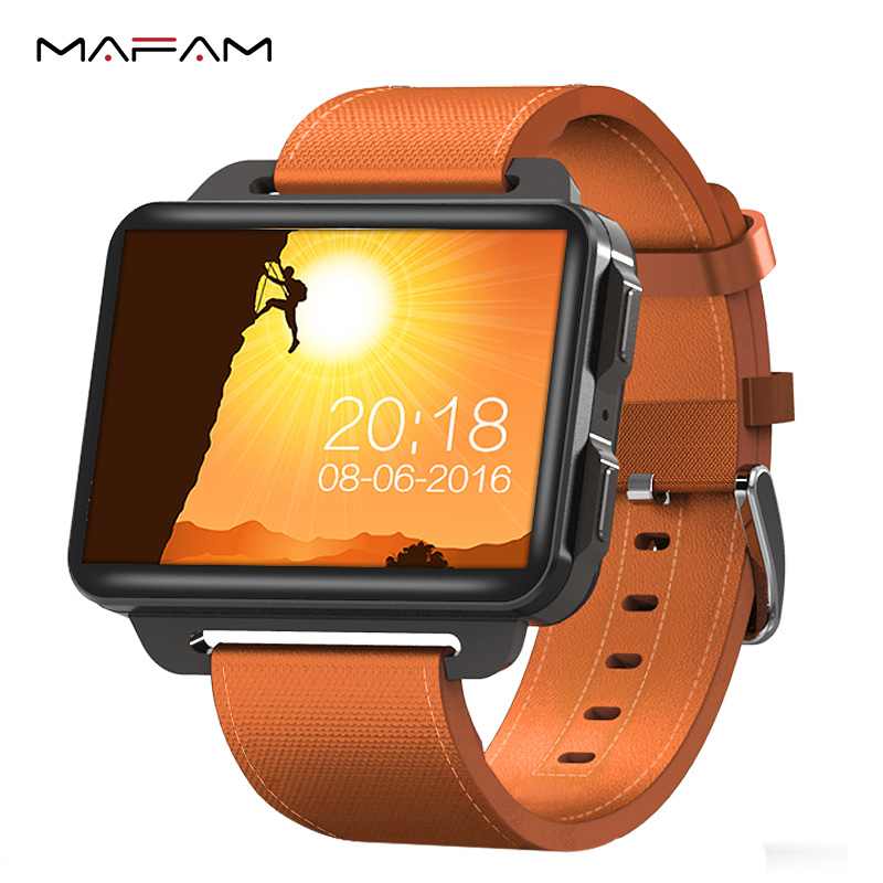 MAFAM DM99 Smart Watch 3G WCDMA Men Women Smartwatch Android 5.1 OS 1GB+16GB Camera Bluetooth Sports Heart Rate Monitor Watch alloyseed dm99 smartwatch android 5 1 2 2in 1gb 16gb quad core heart rate 3g calling wifi bluetooth gps 1 3mp camera smart watch