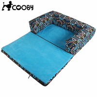 ERPPET Novel Design Collapsible Pet Dog Bed Geometric Printing Puppy Mat Comfortable PP Cotton Soft Kennel Pet Plus Size Blanket