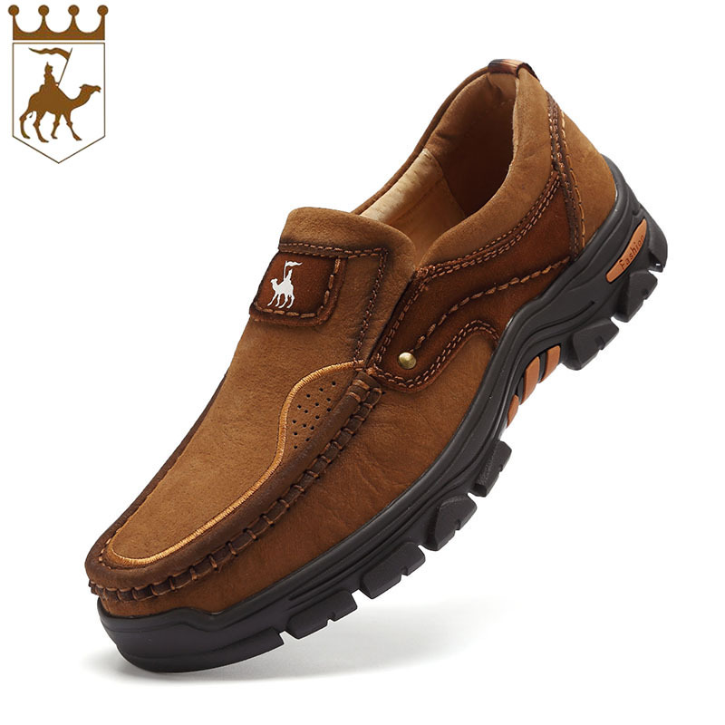BACKCAME Boy Toe Leather Camel New Autumn Winter Leisure Set Foot Shoes Geniune Leather Top Quality Size38-44 ...