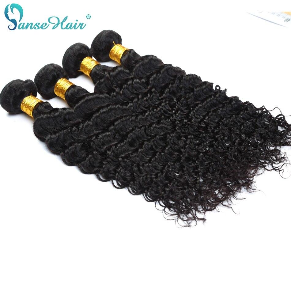 Panse Hair Deep Wave 4 Πακέτα ανά παρτίδα - Ανθρώπινα μαλλιά (για μαύρο) - Φωτογραφία 1