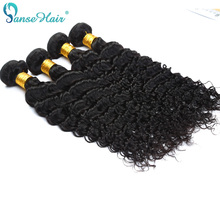 Panse Hair Deep Curly 4 Bundle Per Lot Brazilian Human Hair Weaving Customized 8 to 30 Inches 100% Human Hair Extension Non Remy