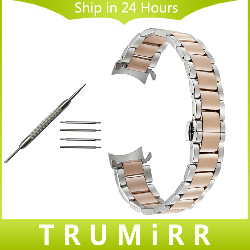 Curved End Stainless Steel Watchband for Hamilton Men Women Watch Band Wrist Strap Bracelet Silver Gold 14mm 16mm 18mm 20mm 22mm stainless steel watch band 18mm 20mm 22mm for rolex curved end strap butterfly buckle belt wrist bracelet black gold silver