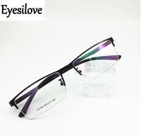 Мужские очки для близорукости Eyesilove  металлические очки для близорукости  очки для близорукости с большим лицом  очки по рецепту-1 0 ~-6 0