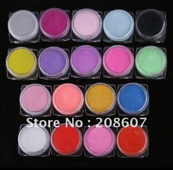 Freeshipping DIY Design Manicure Art Carved Flower Supplies 18Colors Special 3D Carved Powder Nail Beauty Glitter Acrylic Powder