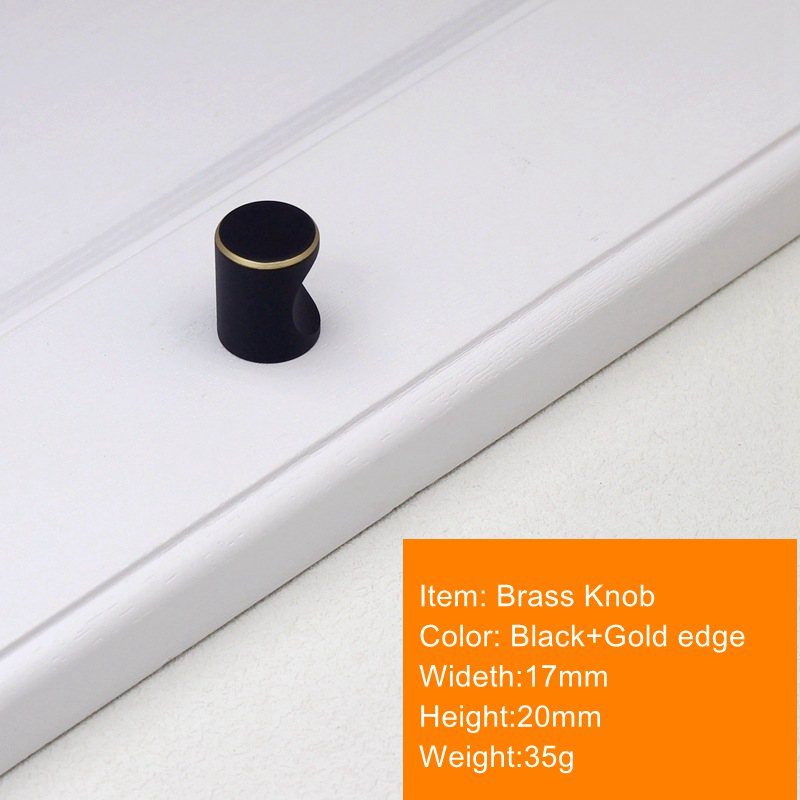 Современный латунный кухонный шкаф ручки черный ящик, комод, шкаф мебельные ручки и Pulls-1Pack - Цвет: 17x20mm