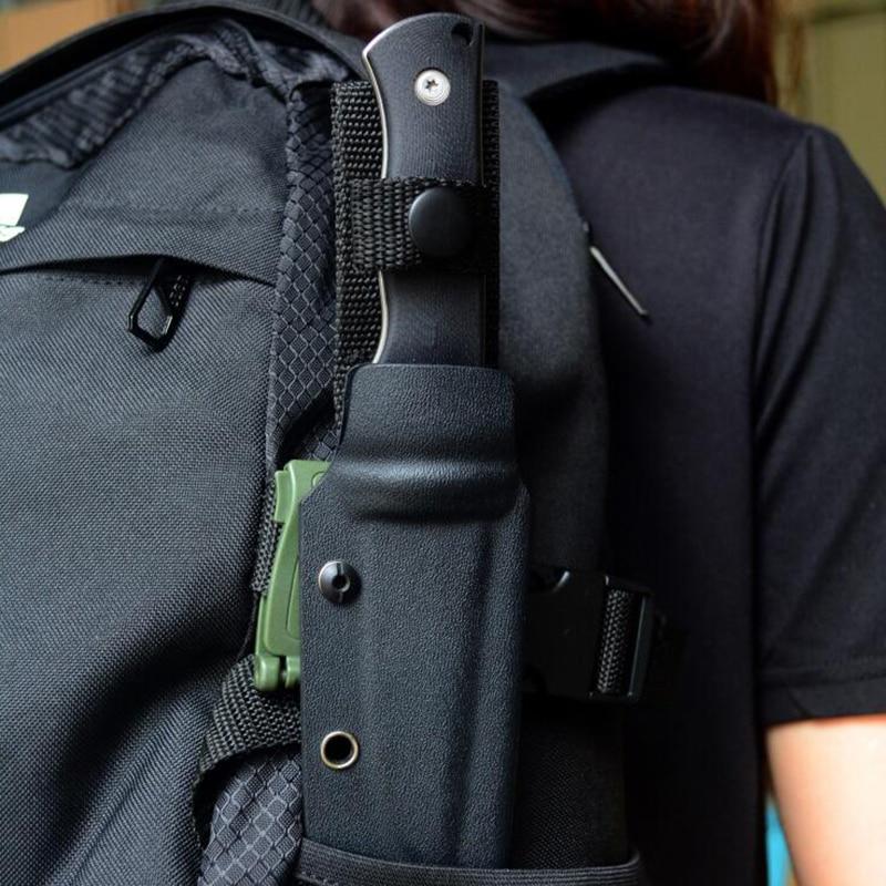 Outdoor EDC Knife K sheath Molle Belt clip bag clip POM Green ,brown , blackOutdoor EDC Knife K sheath Molle Belt clip bag clip POM Green ,brown , black