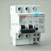 DZ47LE C60 Earth Leakage Circuit Breaker 2P C16 C60 230V Earth Leakage Protection Circuit Breaker Switch