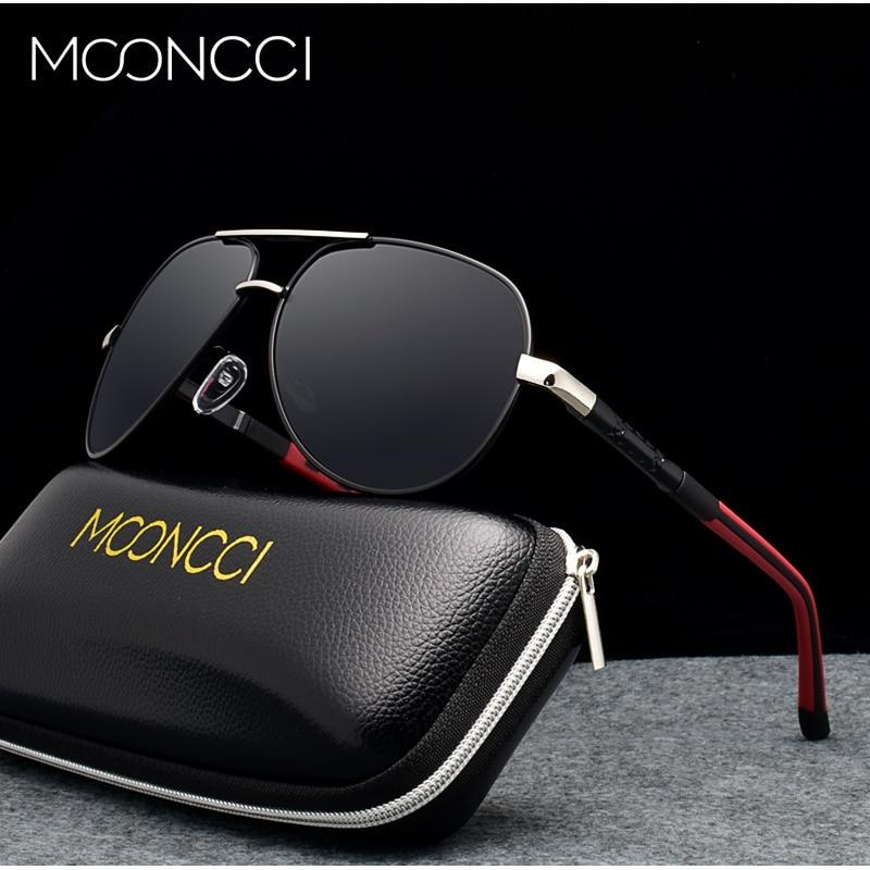 MOONCCI Aluminum Aviation Sunglasses Men Polarized Retro Sun Glasses Male Top Quality Driving Polaroid Glasses Oculos Gafas