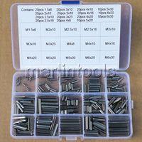 260 piezas 15 tipos de división de acero inoxidable de primavera pasador tensión rollo, 1,5-6mm