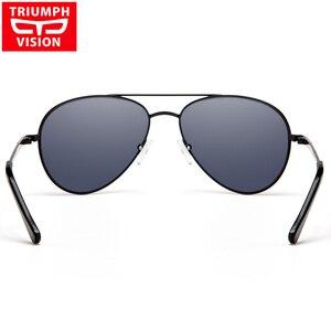 Image 5 - TRIUMPH GÖRÜŞ Reçete Gözlük Erkekler Pilot Optik Gözlük Reçete Güneş Gözlüğü Miyopi Oculos Homme Gafas Brillen