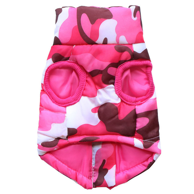 Waterproof Dog Coat Winter Puppy Clothes Camo Pattern Small Dog Jacket Chihuahua Yorkie Clothing 3