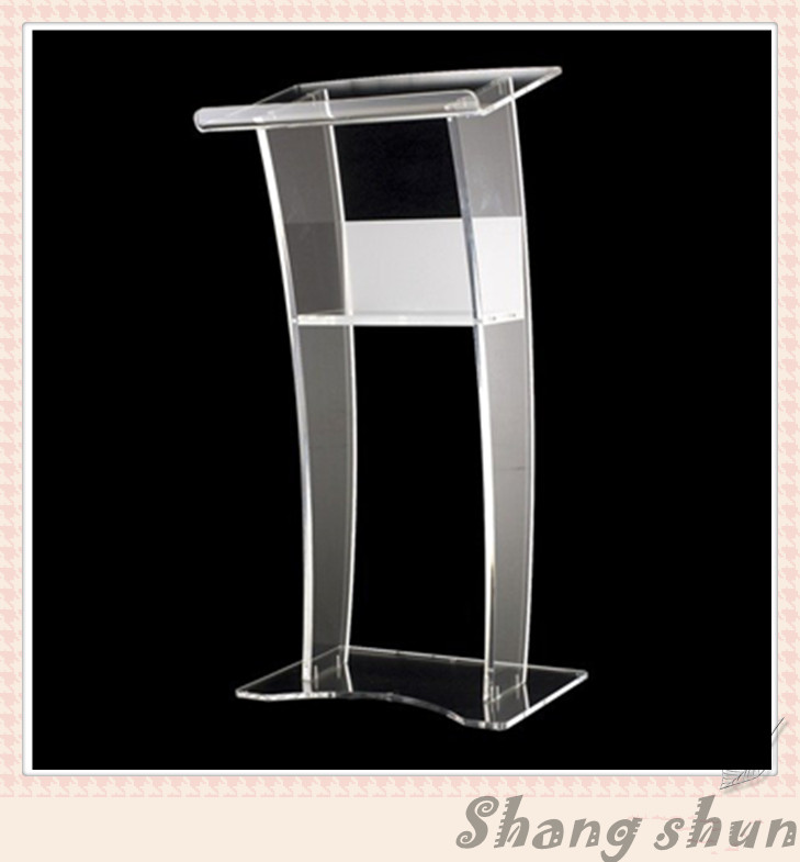 Acrylic Table Top Lectern, Acrylic Material Acrylic Lectern for Meeting 210 297mm customized table display card pmma acrylic material environmental t shape label frame for meeting business 170309 a7