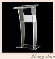 Acrylic Table Top Lectern, Acrylic Material Acrylic Lectern for Meeting