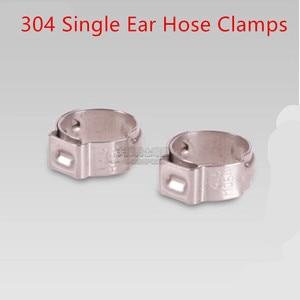 Aço Inoxidável pçs/lote 25 304 Ear Único Mangueira Grampos 8 7 6mm 6.5mm mm 7.5mm mm 8.7mm mm 9.5mm 10 9mm 10.5mm